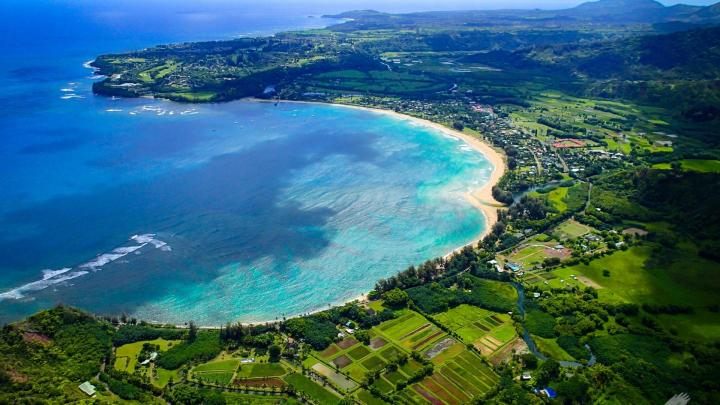 Hanalei-Bay-Kauai-Hawaii-Google